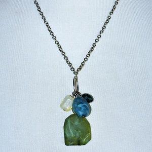 NWOT!  J. Jill Gemstone Charm Drop Necklace